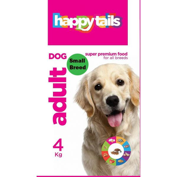 Happy tails Adult Dog Food Small Breed 4Kg