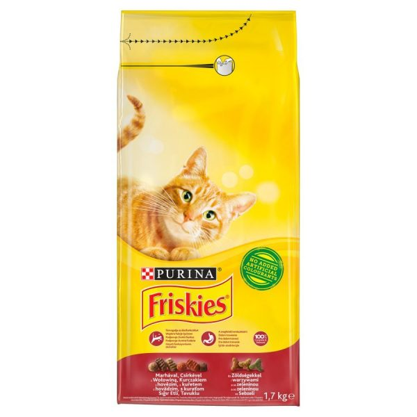 Purina Friskies With Meat & Chicken & Vegetable Cat Dry Food 7.5 kg