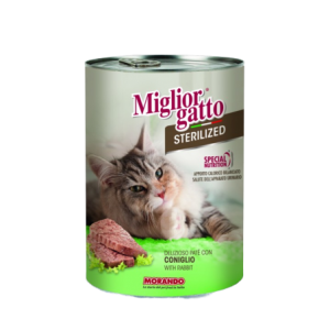 MIGLIOR GATTO STERILIZED PATE WITH RABBIT 400G