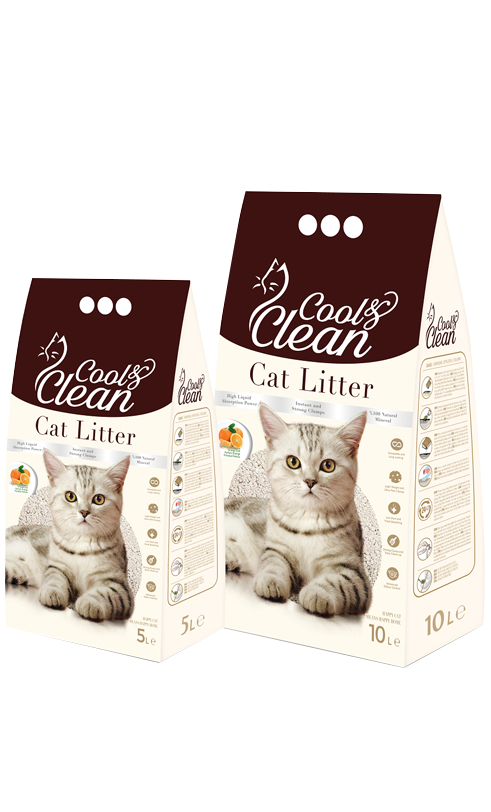 Cool & Clean Clumping- Baby Powder - Cat Litter 10 L