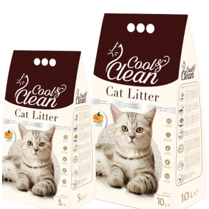 Cool & Clean Clumping- Orange - Cat Litter 10 L
