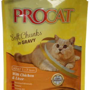 PROCAT WITH CHICKEN & LIVER IN GRAVY 100G