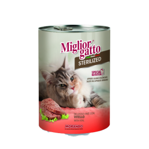 MIGLIOR GATTO STERILIZED PATE WITH VEAL 400G