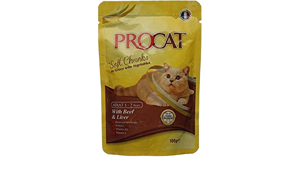 PROCAT WITH BEEF & LIVER IN GRAVY 100G