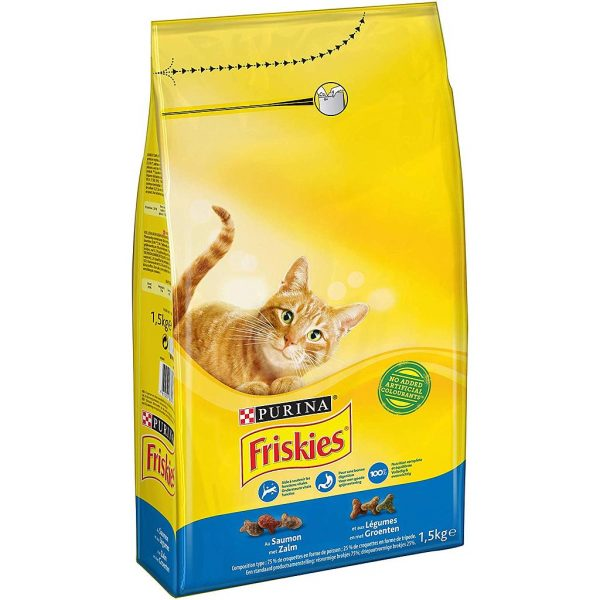 Purina Friskies With Salmon & Vegetable Cat Dry Food 7.5 kg