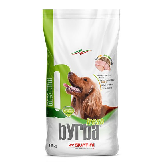 Byrba Fresh Medium Complete Food For Medium Adult Dogs 12 Kg