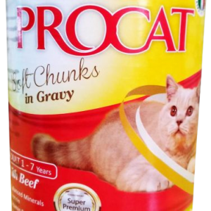 PROCAT CHUNKS IN GRAVY WITH BEEF 415G