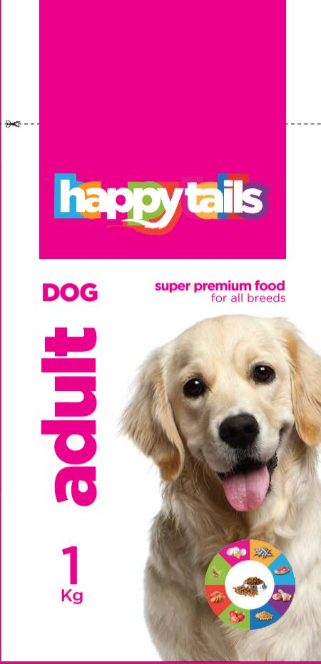 Happy tails Adult Dog Food 1Kg