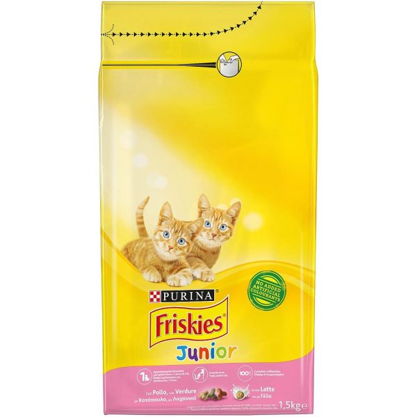 Purina Friskies Junior With Chicken & Milk Cat Dry Food 1.5 kg