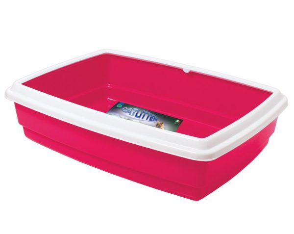 G-PLAST Vaschetta Large Cat Litter Box With Rim