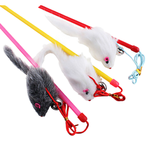 FEATHER RAT TOY FOR CAT