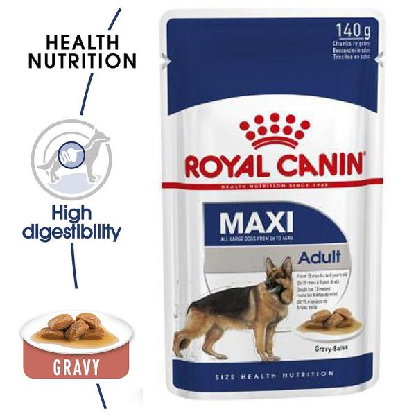 Royal Canin Maxi Adult Pouch Gravy 140g