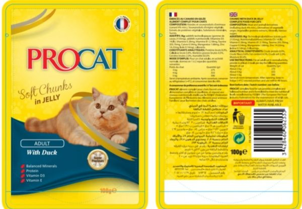 Procat Soft Chunks in Jelly-Duck100g