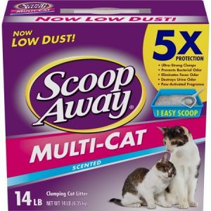 Scoop Away Multi-Cat Clumping Cat Litter 6.35 kg