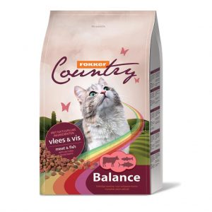 Fokker Country Balance Meat & Fish Cat Dry Food 10KG