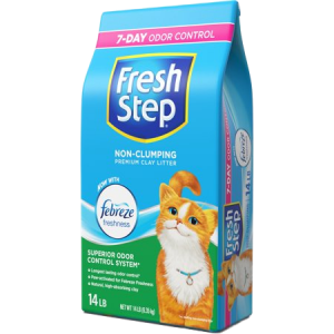 FRESH STEP EXTREME ACTIVATED CARBON TRAPS AND ELIMINATES URINE AND FECES ODORS, CLAY CAT LITTER, 14 LB BAG