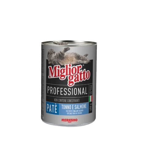 MIGLIOR GATTO PATE WITH TUNA & SALMON 400G