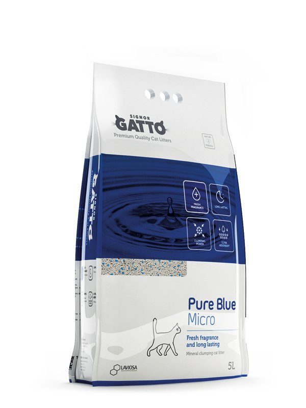 Signor Gatto Pure Blue Micro Clumping Cat Litter 5 L