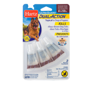 HARTZ® ULTRAGUARD® DUAL ACTION™ TOPICAL FLEA AND TICK PREVENTION FOR DOGS AND PUPPIES 61-150LB(OVER 28KG )