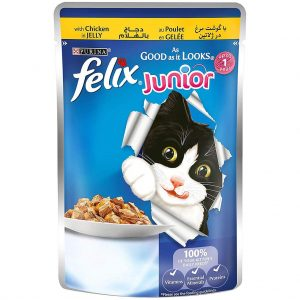 Purina Felix As Good as it Looks Wet Cat Food Pouch-- Junior Chicken in Jelly100 g