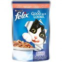 Purina Felix As Good as it Looks Wet Cat Food Pouch– Salmon 100 g