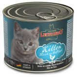 Leonardo Cat Cans Kitten with Poultry 200g