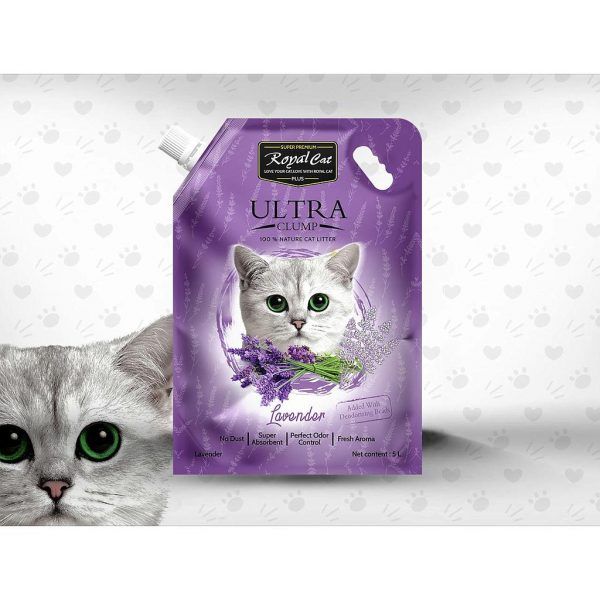 Royal Cat Plus Ultra Clumping Cat- Lavender - litter 5 Litre