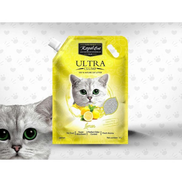 Royal Cat Plus Ultra Clumping Cat- Lemon - litter 5 Litre