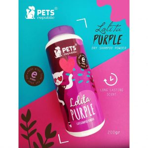 Pets Republic Dry Shampoo Powder -Lolita Purple-200 g