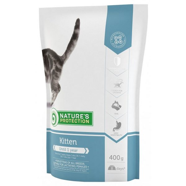 Nature's Protection Cat Kitten Dry Food 400 G