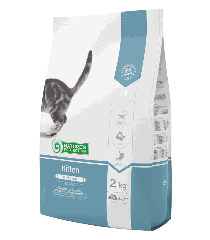 Nature's Protection Cat Kitten Dry Food 2 Kg