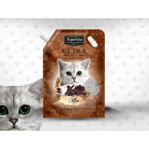 Royal Cat Plus Ultra Clumping-coffee- Cat litter 5 Litre