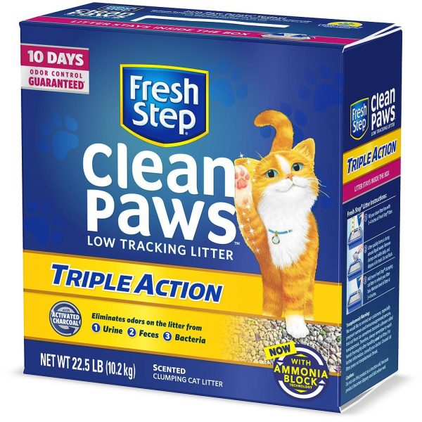 Fresh Step Clean Paws Triple Action Scented Clumping Cat Litter 10.2 kg