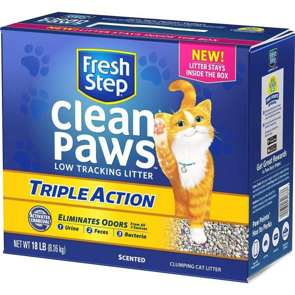 Fresh Step Clean Paws Triple Action Scented Clumping Cat Litter 8.16 kg