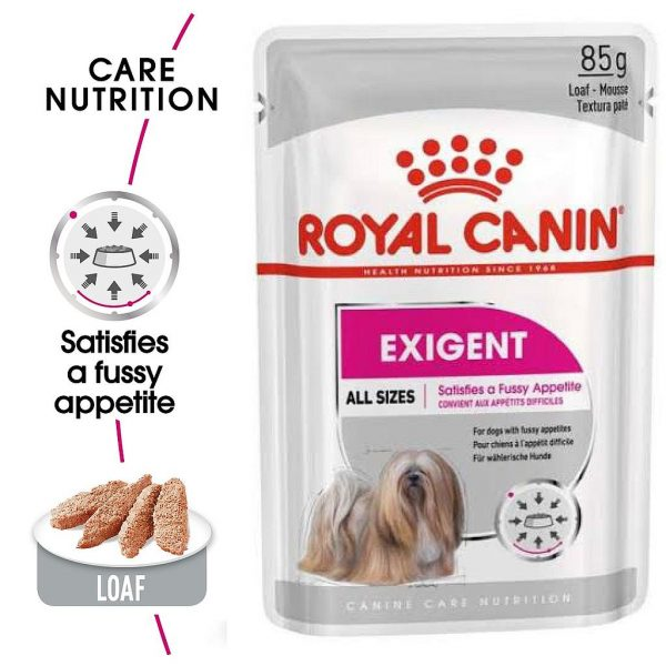 Royal Canin Exigent Dog Pouch Loaf 85 g