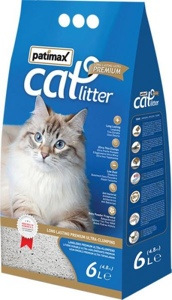 Patimax Cat Litter Clumping- Baby Powder - 4.8 Kg