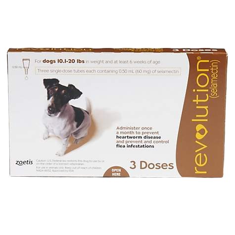 REVOLUTION SPOT ON FOR DOGS 10-20LBS