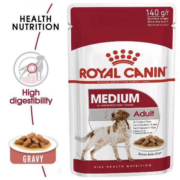 Royal Canin Medium Adult Pouch Gravy 140g