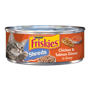 Purina Friskies Shreds Chicken & Salmon Dinner in Gravy Wet Cat Food 156 g