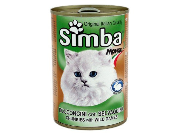 Simba Cat Chunkies With Wild Games 415g